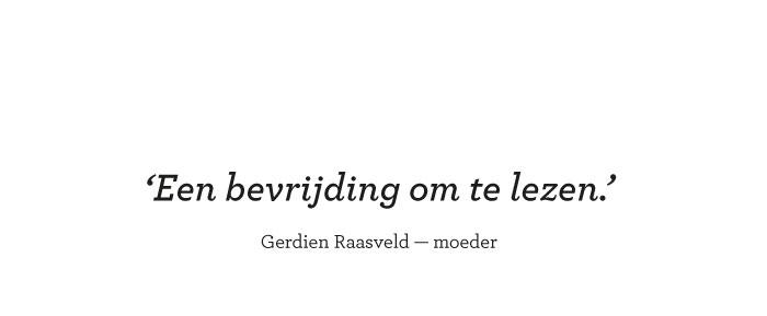 Een bevrijding om te lezen. Gerdien Raasveld — moeder